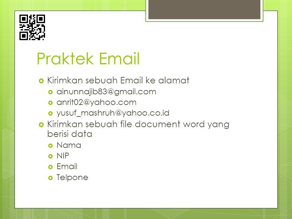 Praktek Email Kirimkan sebuah Email ke alamat