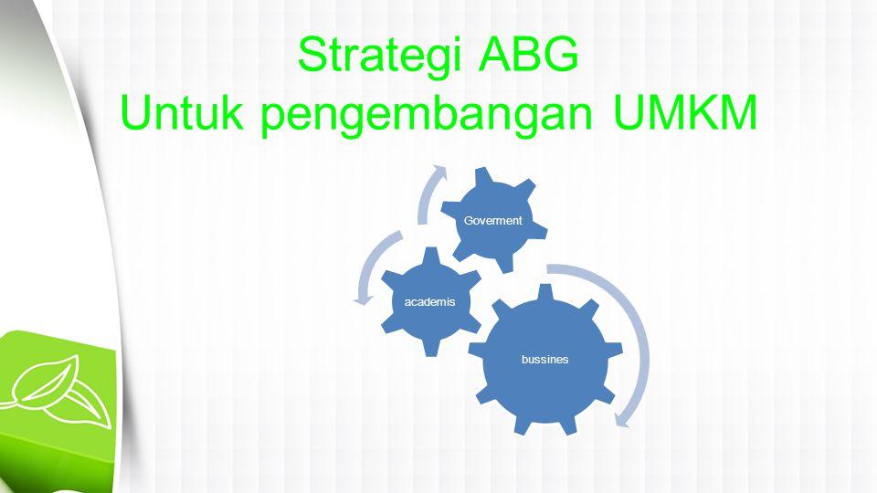 Strategi ABG Untuk pengembangan UMKM