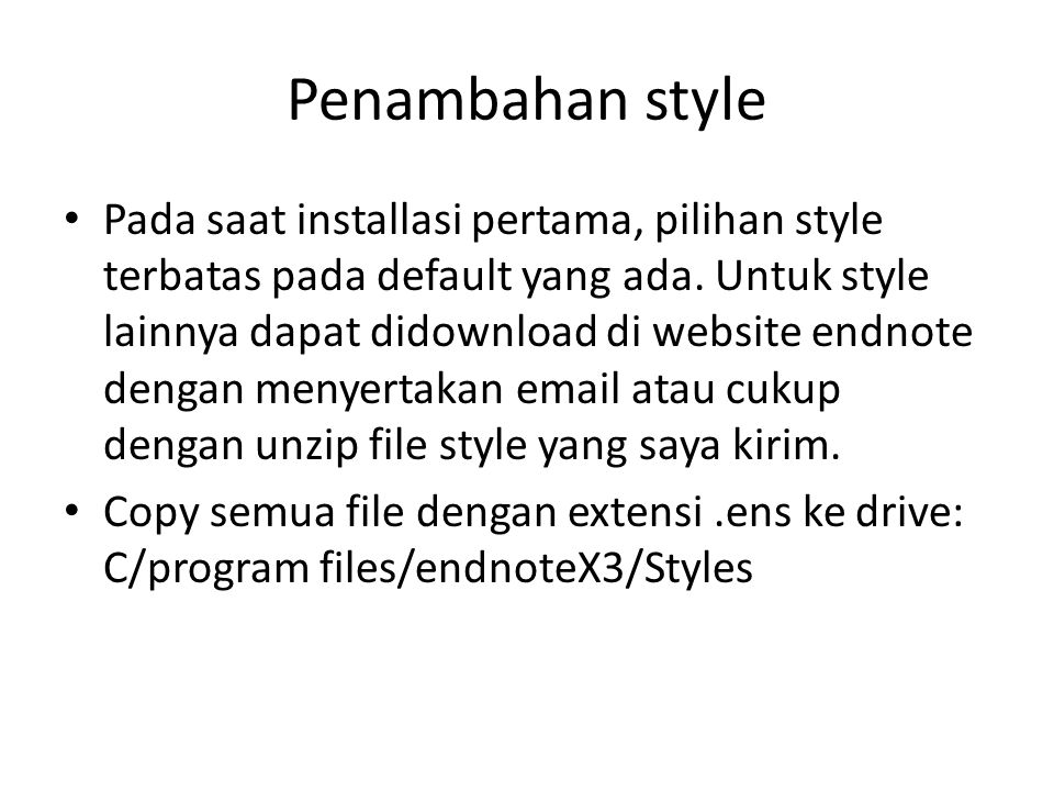 Penambahan style