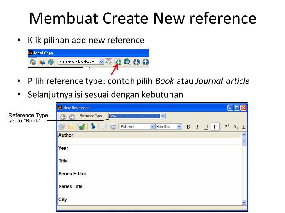 Membuat Create New reference
