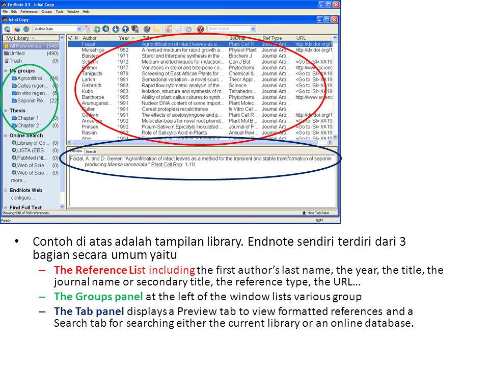 Contoh di atas adalah tampilan library
