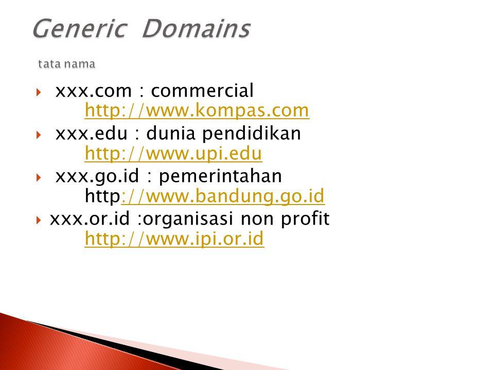 Generic Domains tata nama