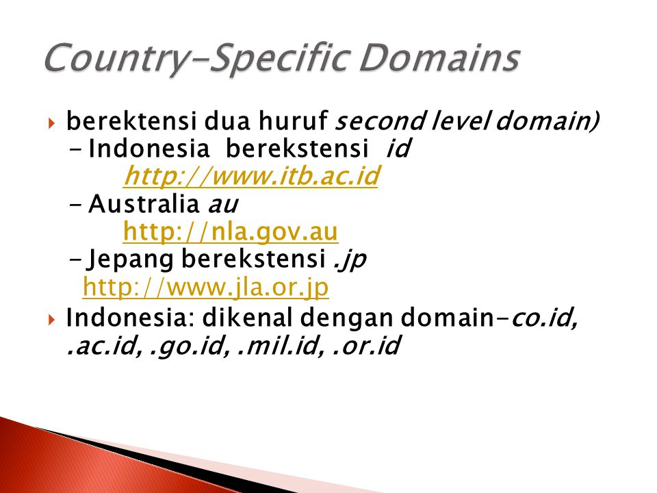 Country-Specific Domains
