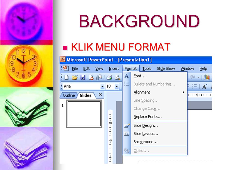 BACKGROUND KLIK MENU FORMAT