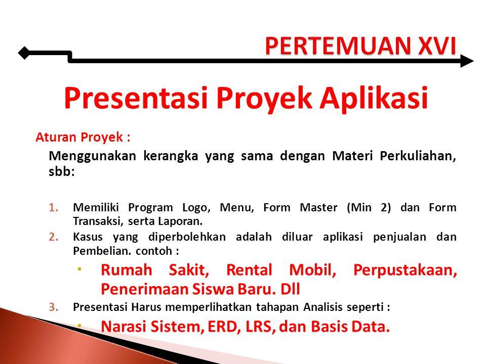 Presentasi Proyek Aplikasi