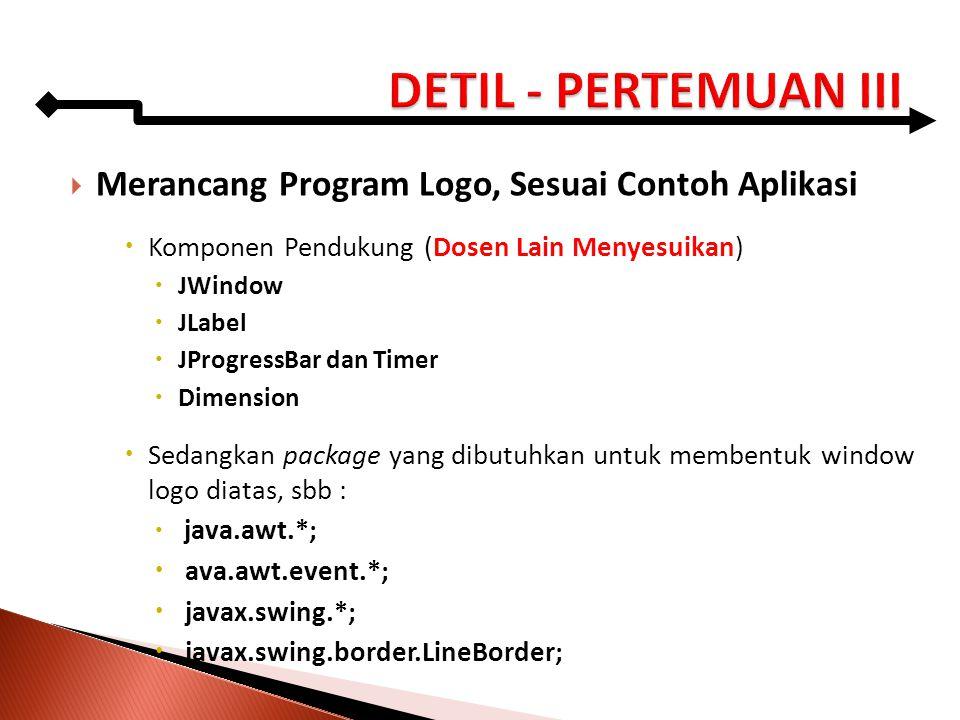 DETIL - PERTEMUAN III Merancang Program Logo, Sesuai Contoh Aplikasi