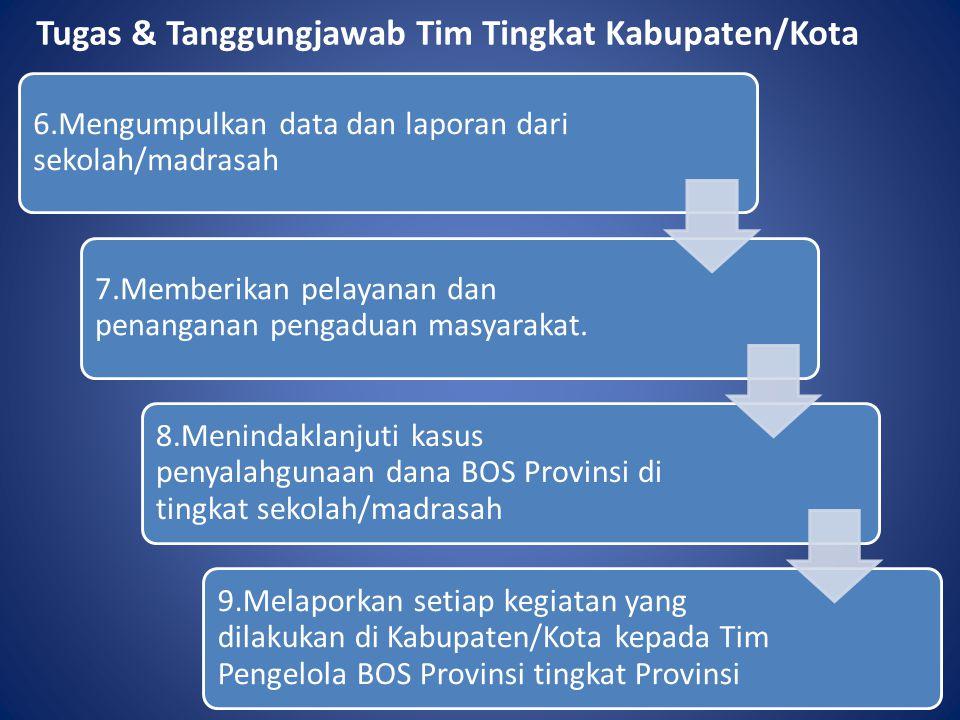 Tugas & Tanggungjawab Tim Tingkat Kabupaten/Kota