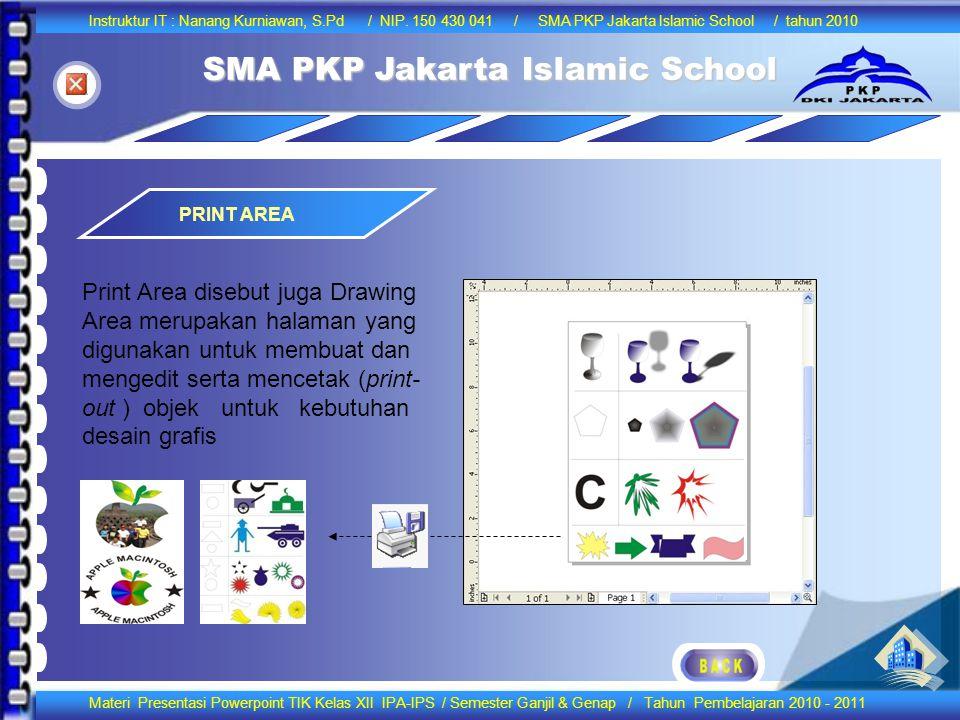 Berbasis Bitmap PRINT AREA.