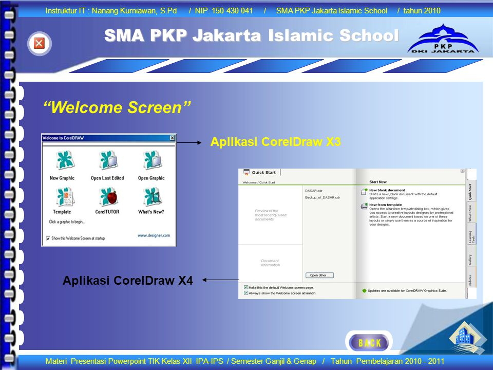 Welcome Screen Aplikasi CorelDraw X3 Aplikasi CorelDraw X3