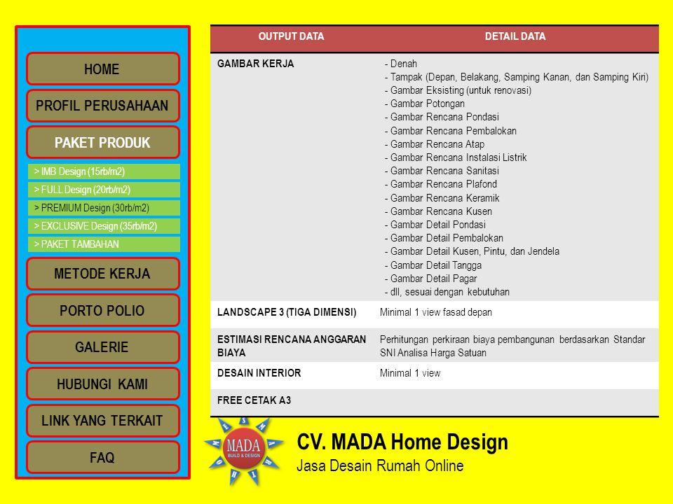 CV. MADA Home Design Jasa Desain Rumah Online HOME PROFIL PERUSAHAAN