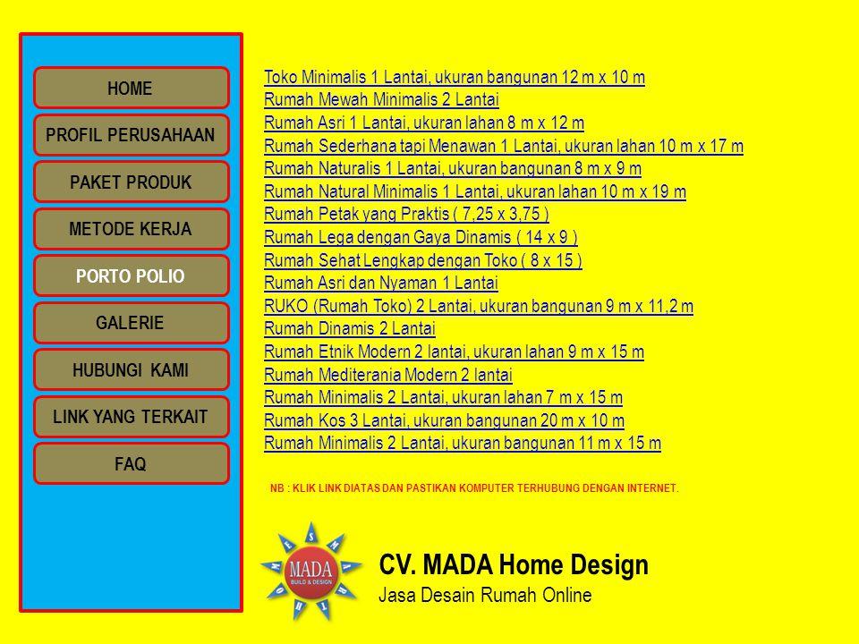 CV. MADA Home Design Jasa Desain Rumah Online