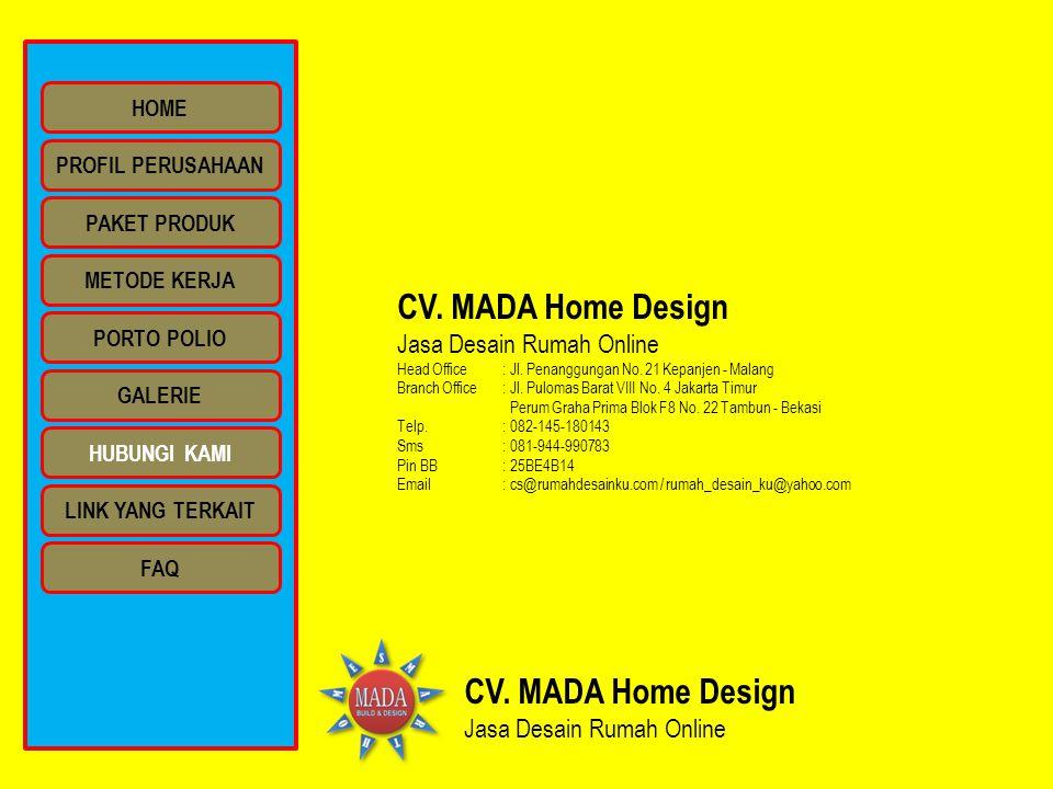 CV. MADA Home Design CV. MADA Home Design Jasa Desain Rumah Online