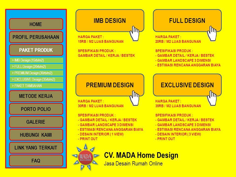 CV. MADA Home Design IMB DESIGN FULL DESIGN PREMIUM DESIGN