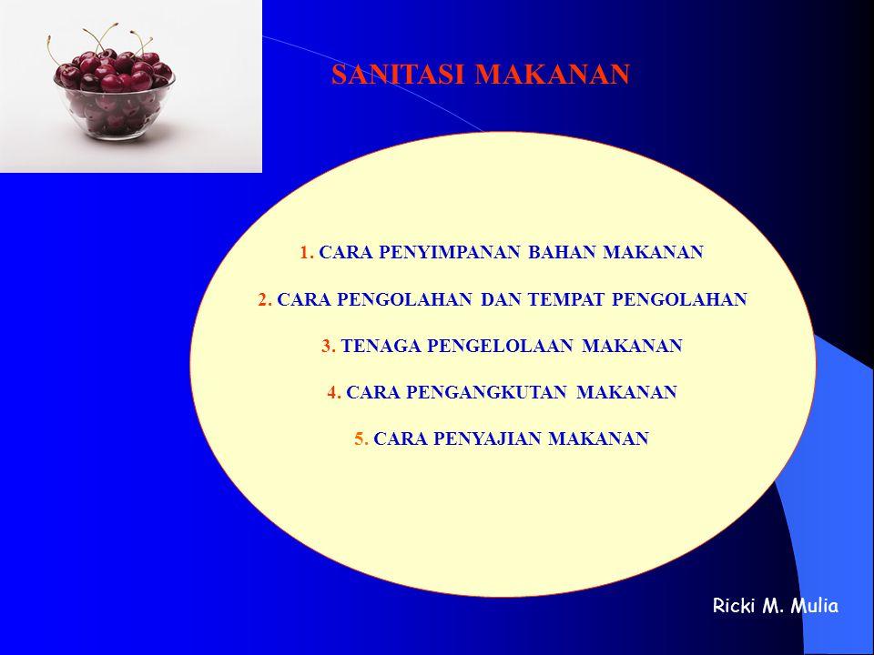 SANITASI MAKANAN 1. CARA PENYIMPANAN BAHAN MAKANAN