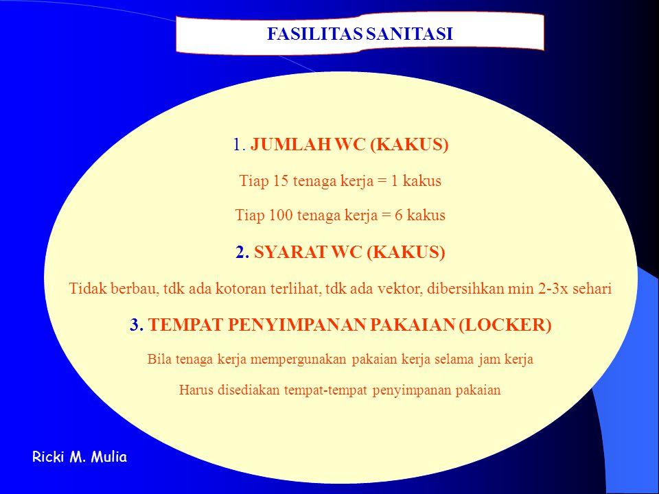 3. TEMPAT PENYIMPANAN PAKAIAN (LOCKER)