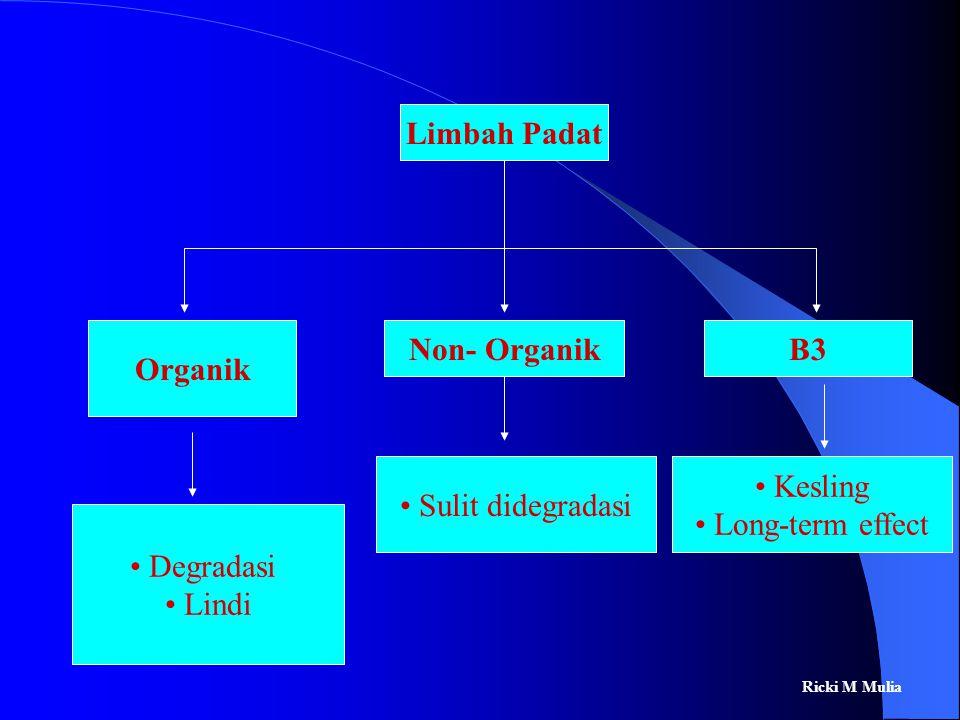 Limbah Padat Organik Non- Organik B3