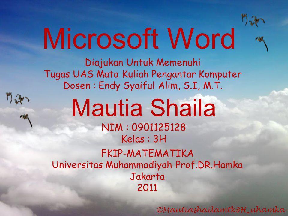 Microsoft Word Mautia Shaila Diajukan Untuk Memenuhi