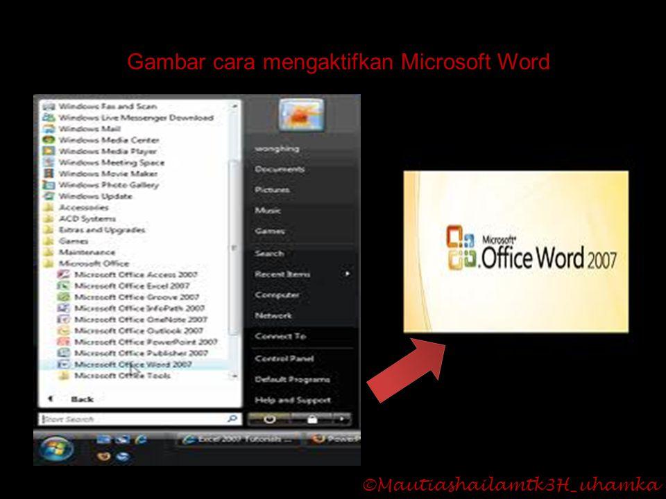 Gambar cara mengaktifkan Microsoft Word