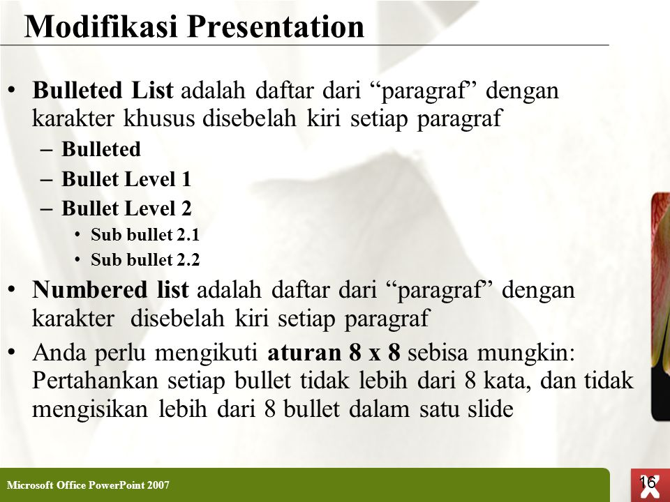 Modifikasi Presentation