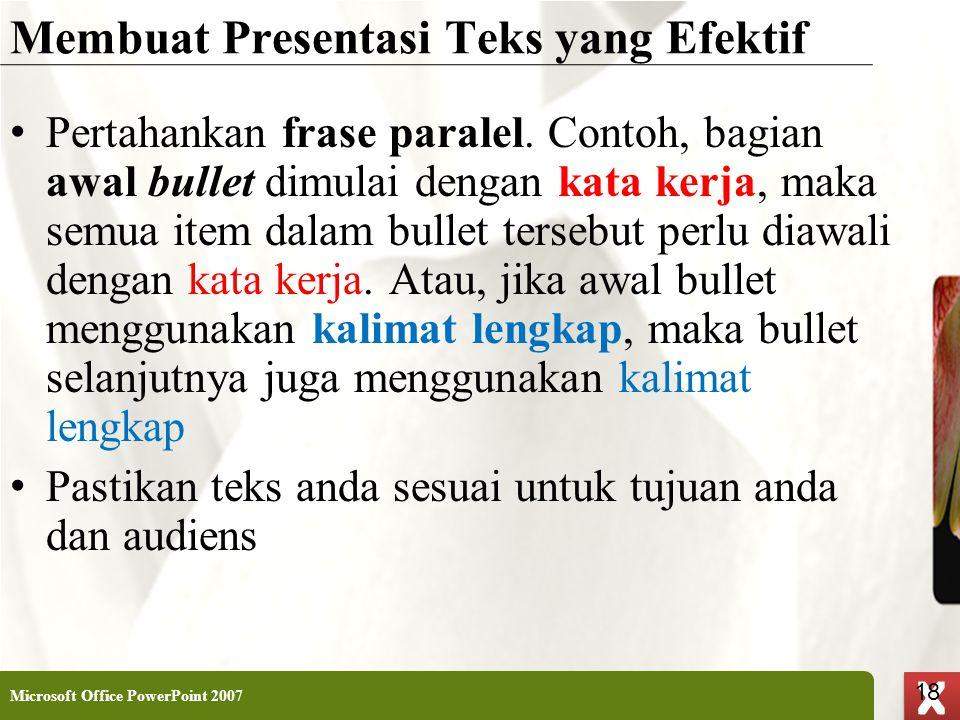 Membuat Presentasi Teks yang Efektif