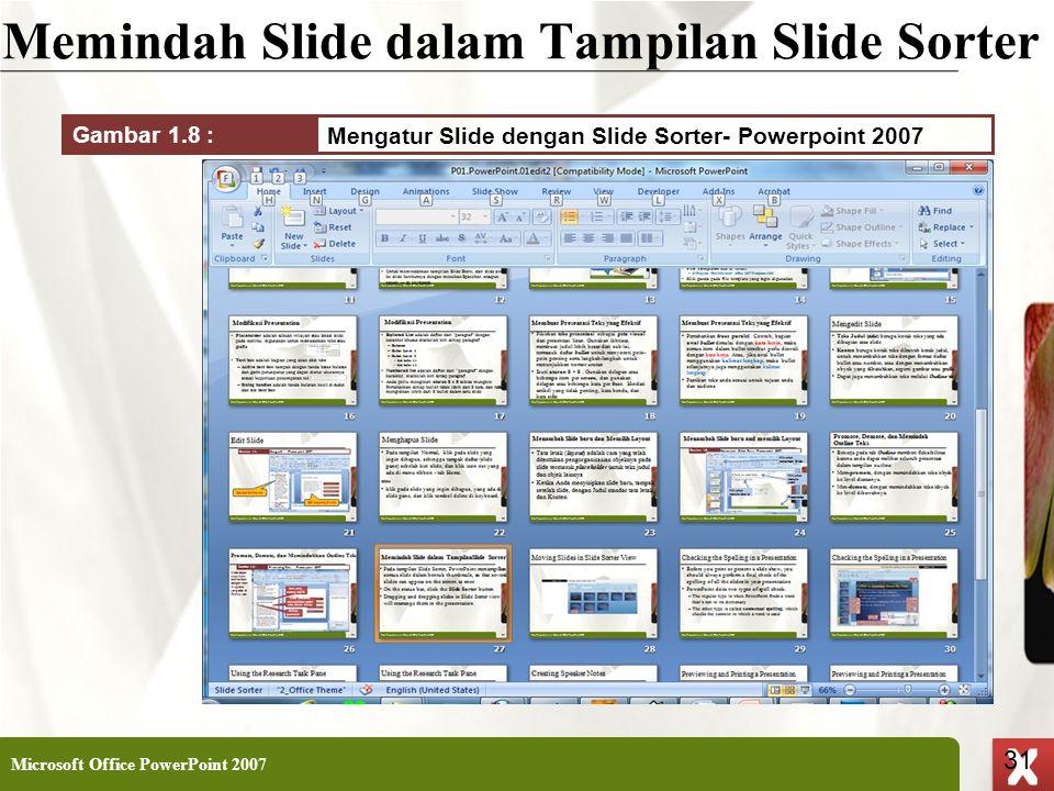 Memindah Slide dalam Tampilan Slide Sorter