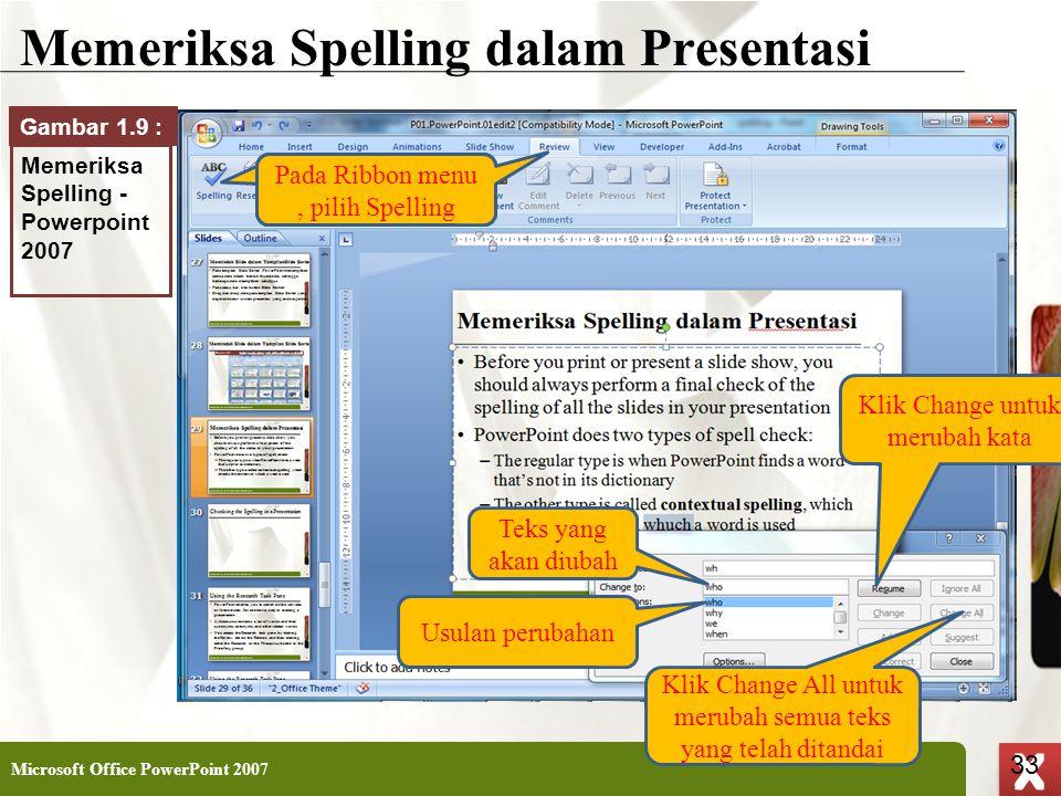 Memeriksa Spelling dalam Presentasi
