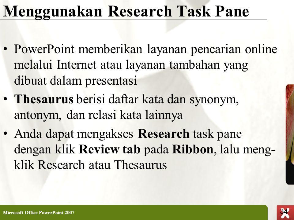Menggunakan Research Task Pane