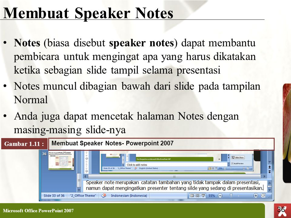 Membuat Speaker Notes
