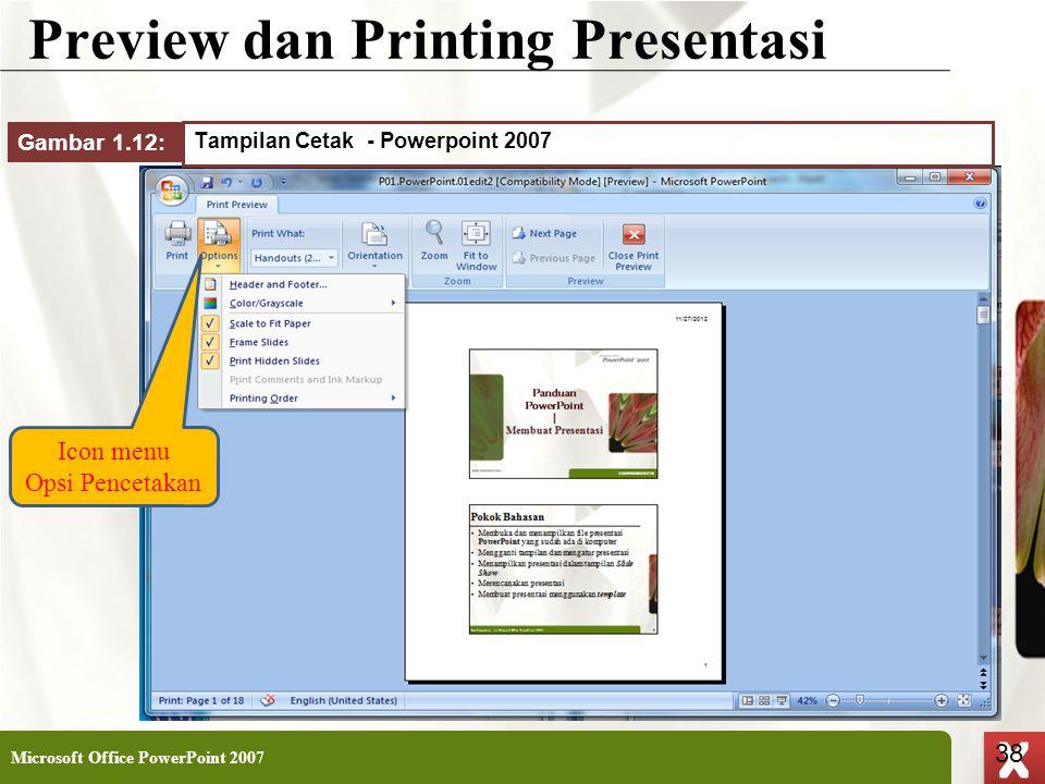Preview dan Printing Presentasi