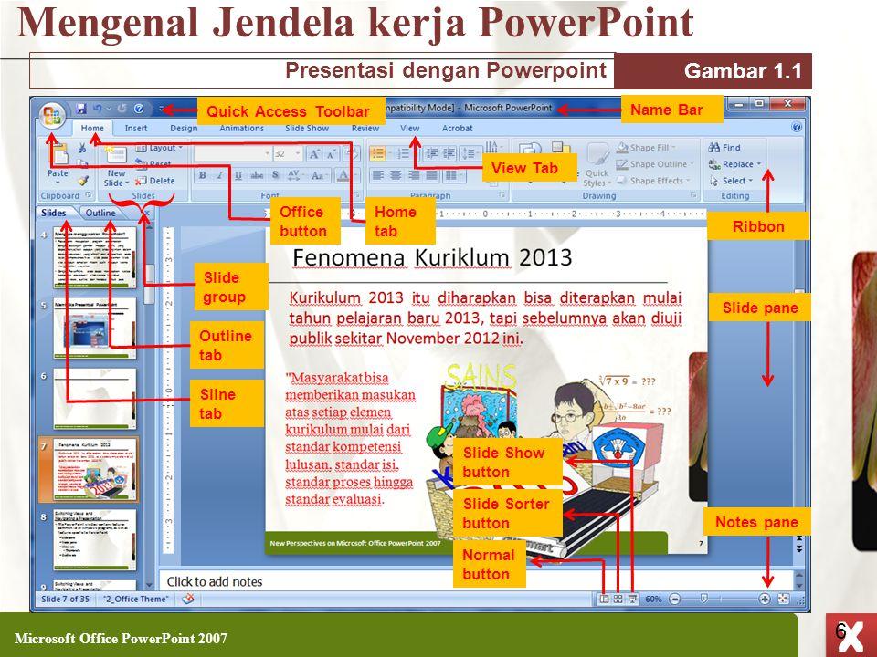 Mengenal Jendela kerja PowerPoint