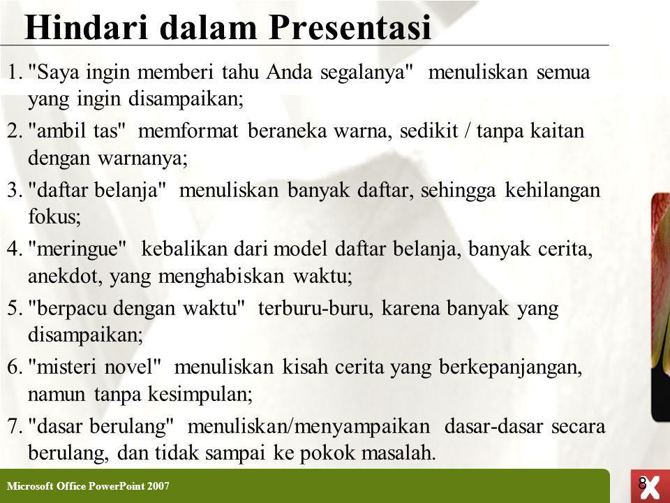 Hindari dalam Presentasi