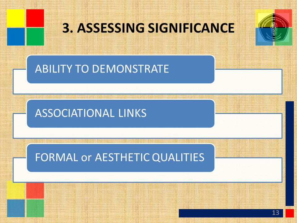 3. ASSESSING SIGNIFICANCE