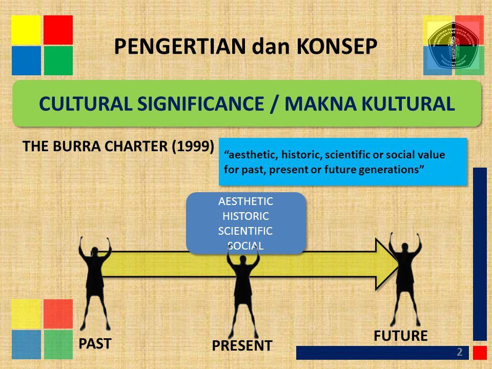 CULTURAL SIGNIFICANCE / MAKNA KULTURAL