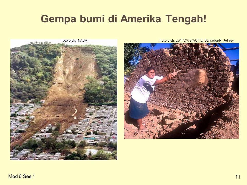 Gempa bumi di Amerika Tengah!