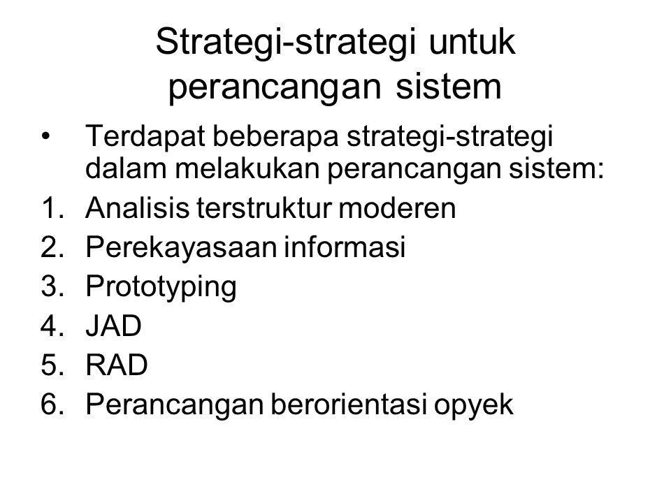 Strategi-strategi untuk perancangan sistem