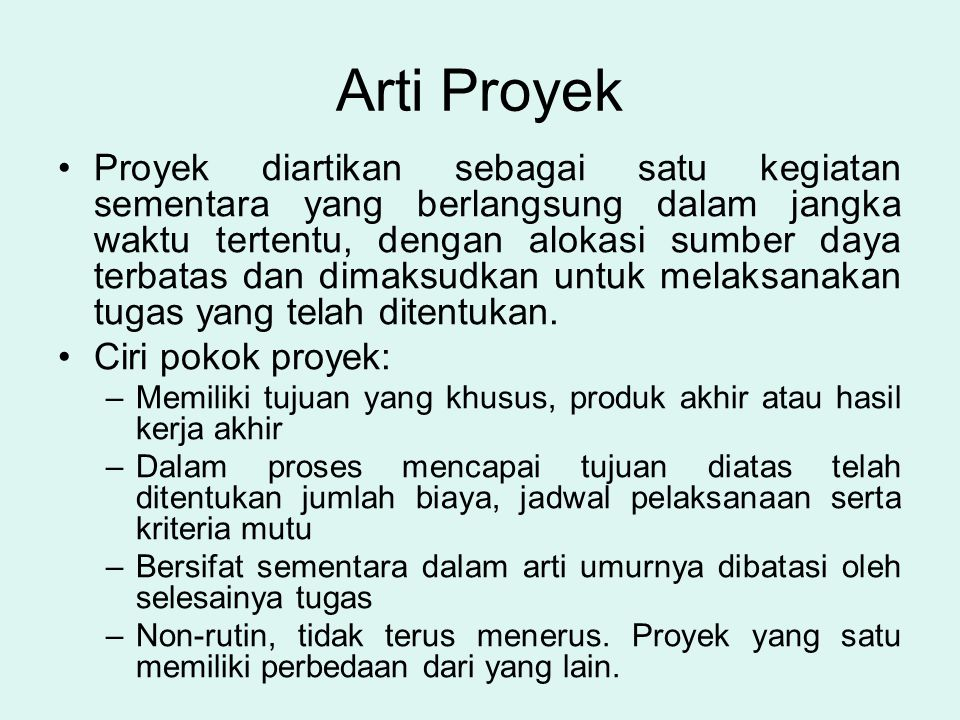 Arti Proyek