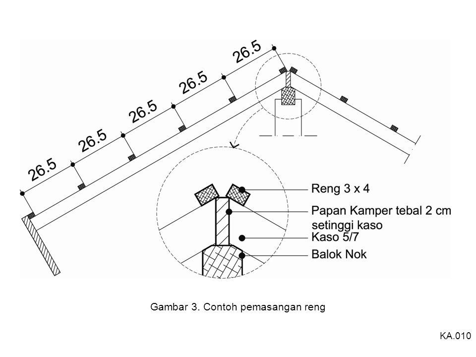 Gambar 3. Contoh pemasangan reng