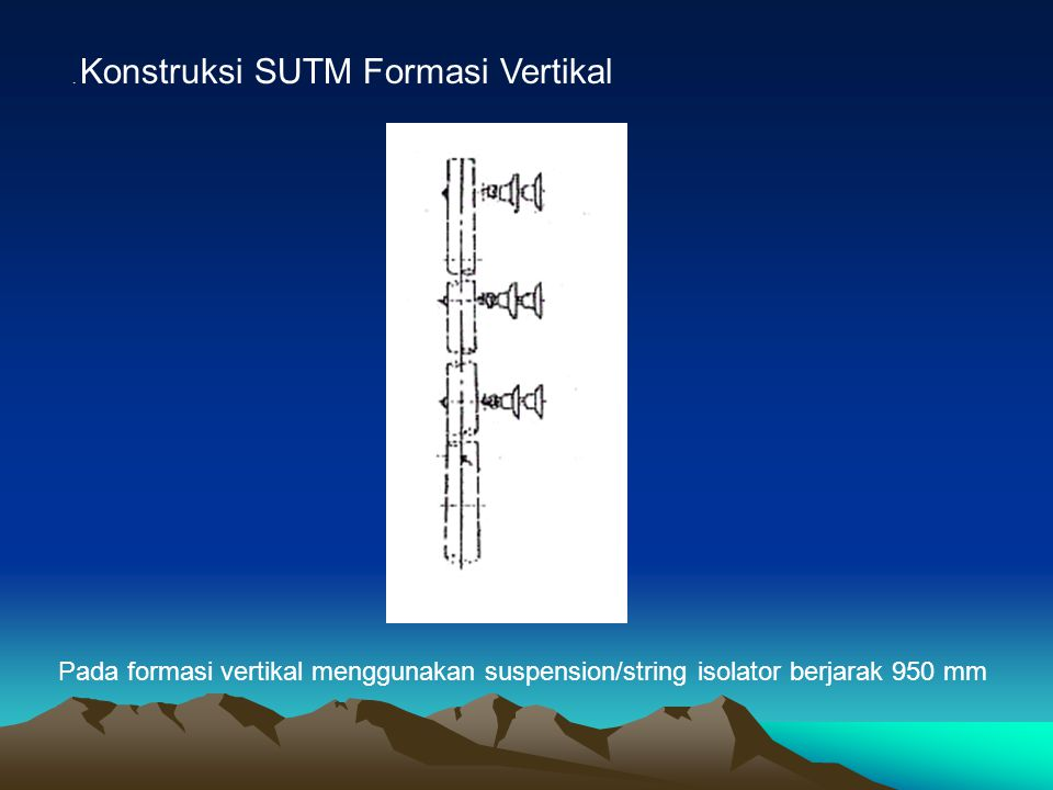 . Konstruksi SUTM Formasi Vertikal