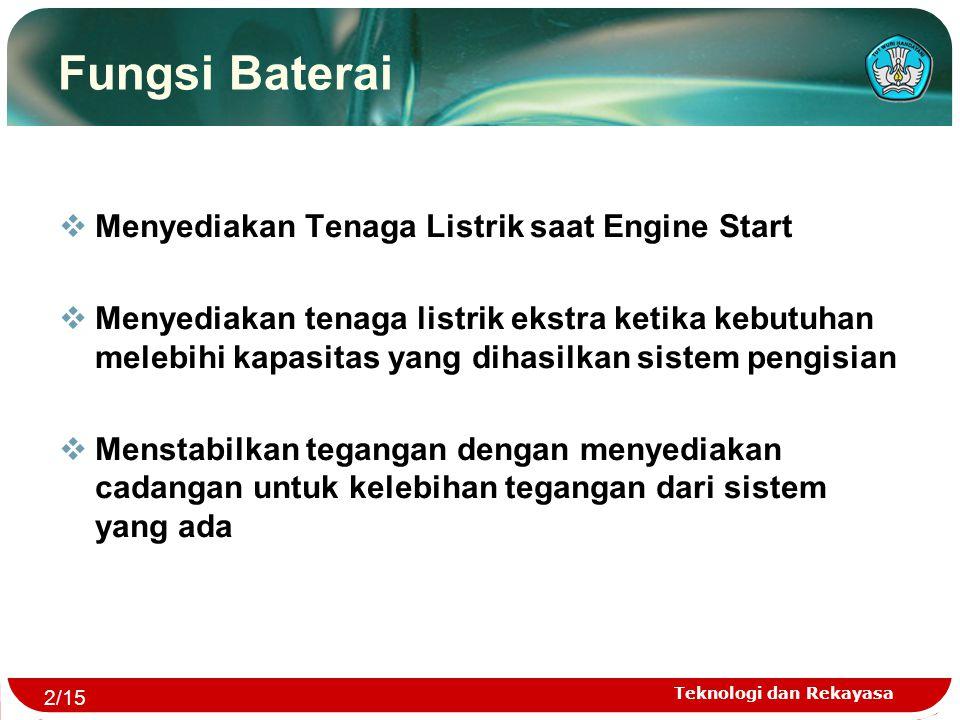 Fungsi Baterai Menyediakan Tenaga Listrik saat Engine Start