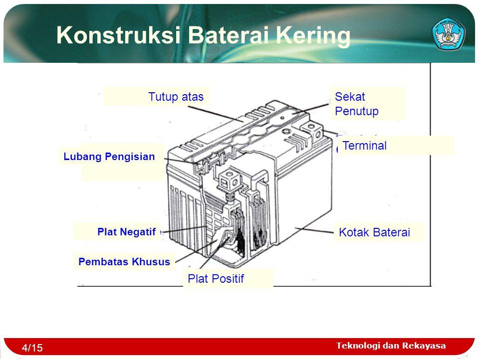 Konstruksi Baterai Kering