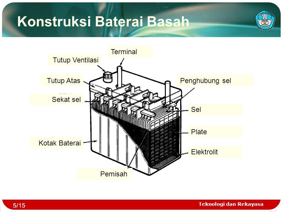 Konstruksi Baterai Basah