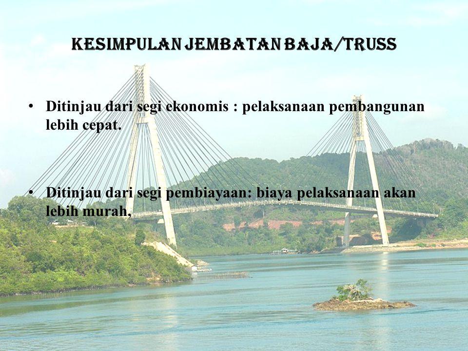 Kesimpulan jembatan baja/truss