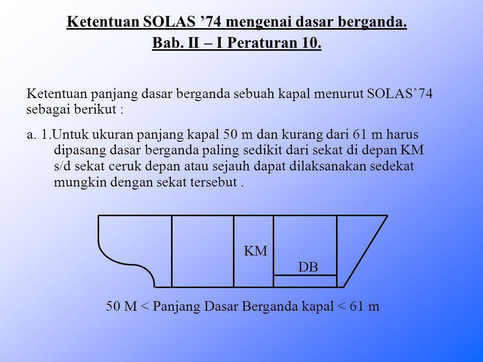 Ketentuan SOLAS '74 mengenai dasar berganda.