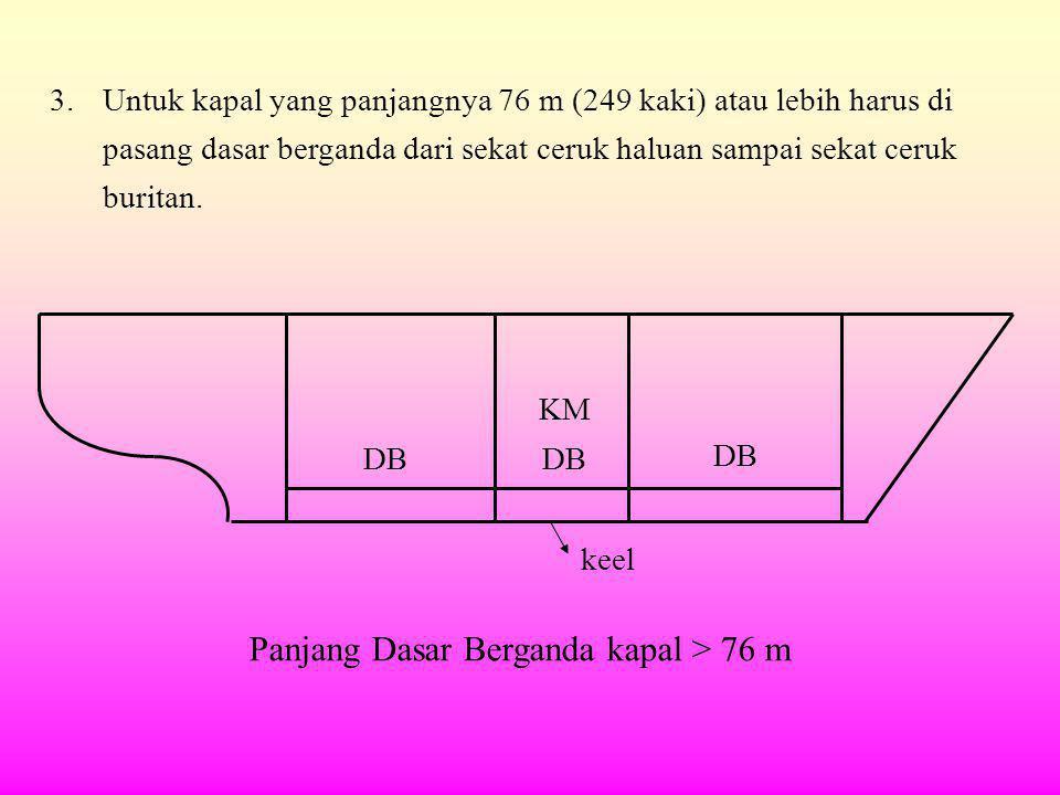 Panjang Dasar Berganda kapal > 76 m