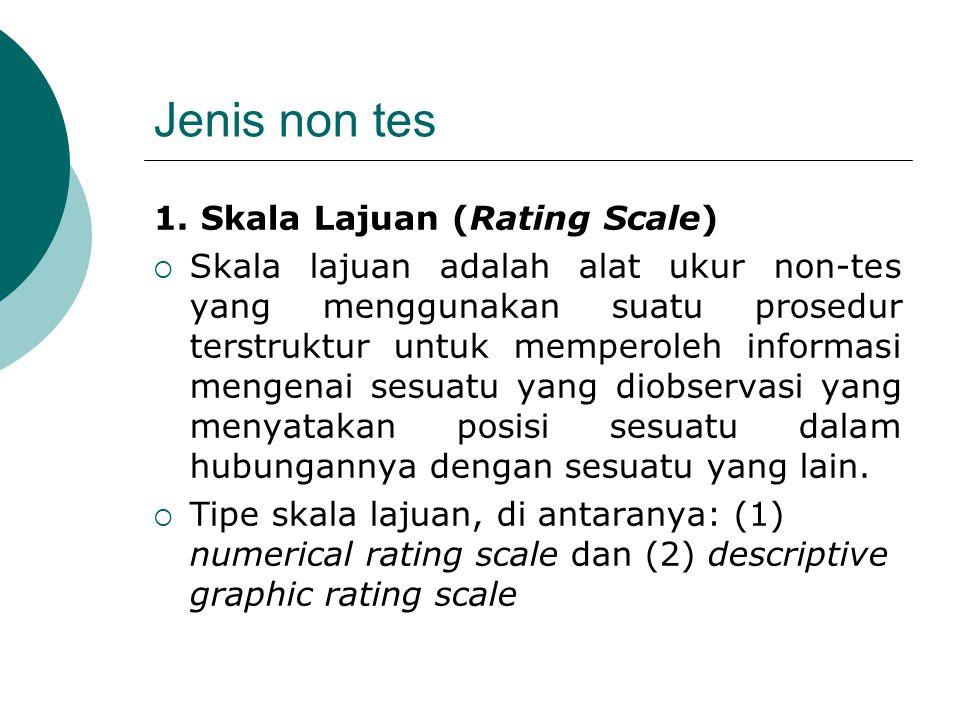 Jenis non tes 1. Skala Lajuan (Rating Scale)