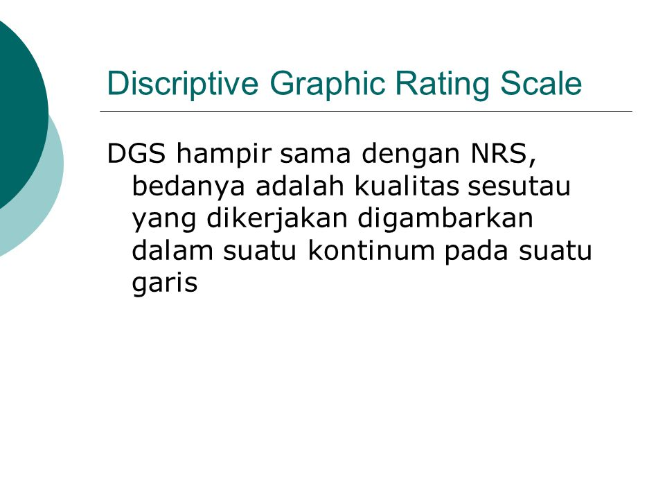 Discriptive Graphic Rating Scale