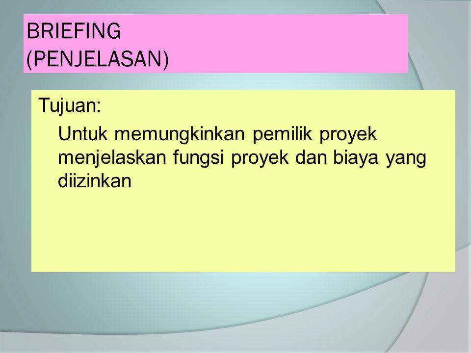 BRIEFING (PENJELASAN)