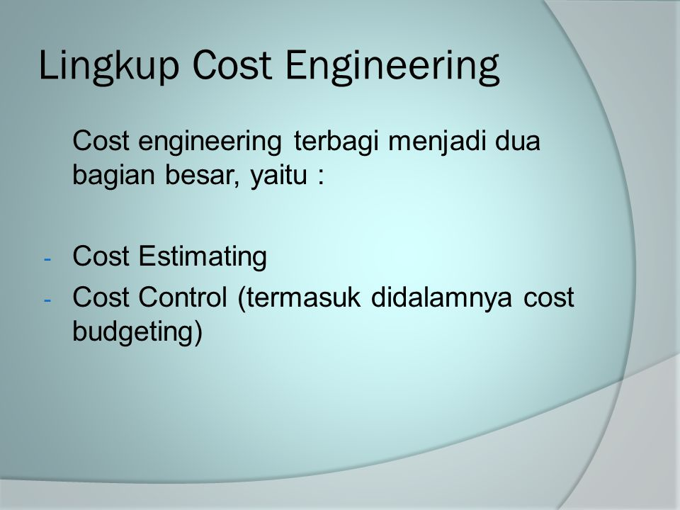 Lingkup Cost Engineering