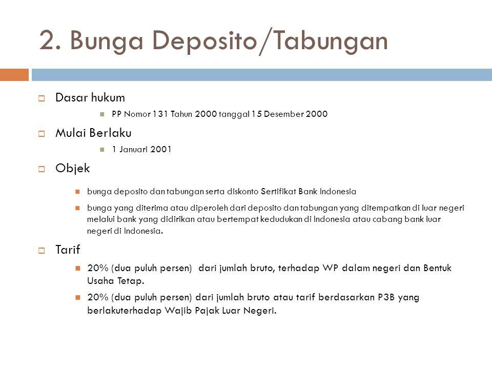 2. Bunga Deposito/Tabungan