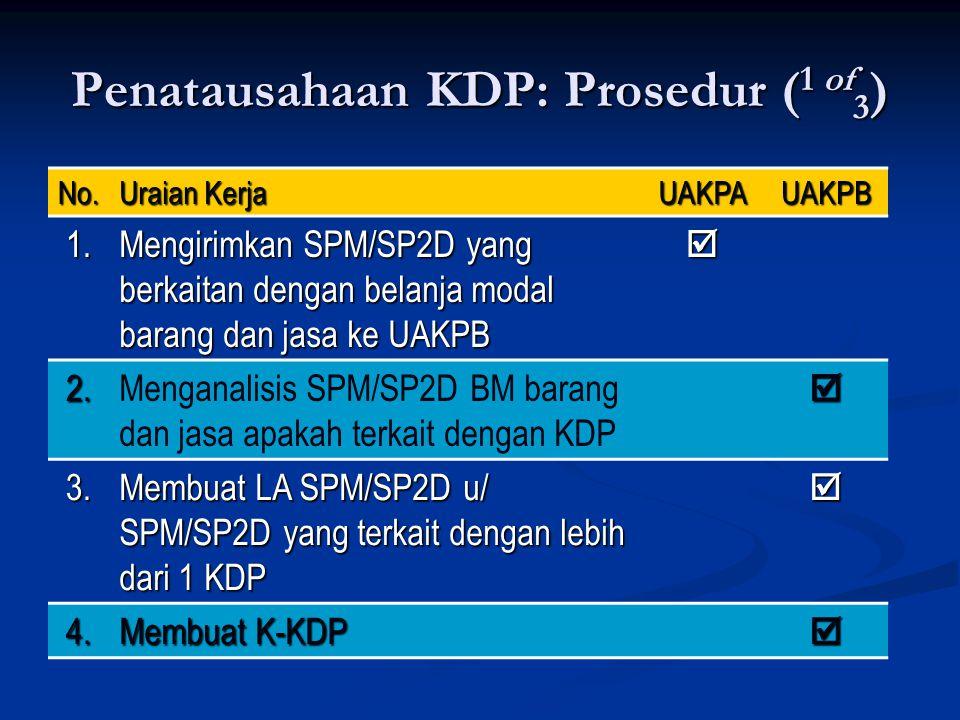 Penatausahaan KDP: Prosedur (1 of3)